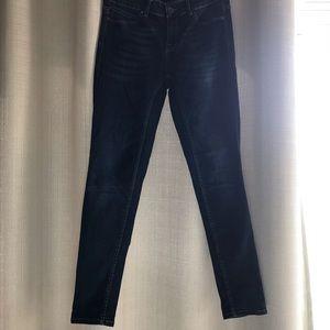 Forever 21 dark blue wash jeans